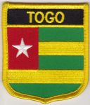 Togo Embroidered Flag Patch, style 07.